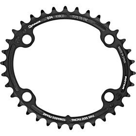 Rotor Aldhu Kettenblatt 110x4 innen oval schwarz/matt
